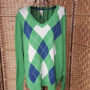 Cotton v neck sweater